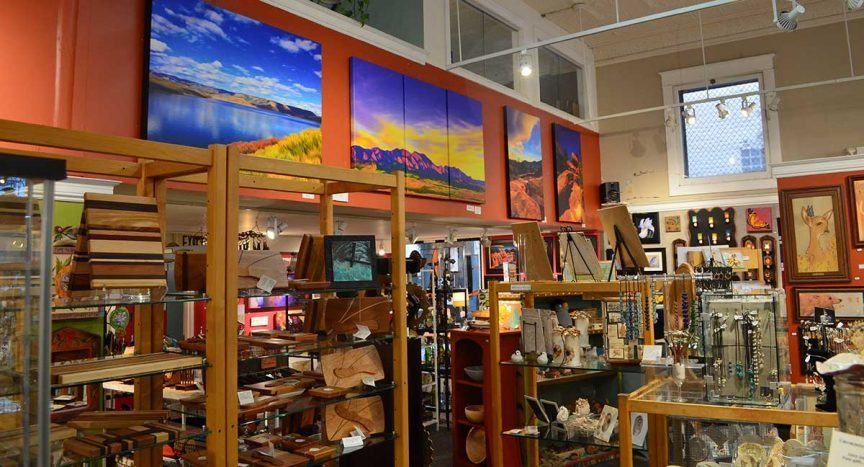 Interior of the Boulder Arts & Crafts Gallery.