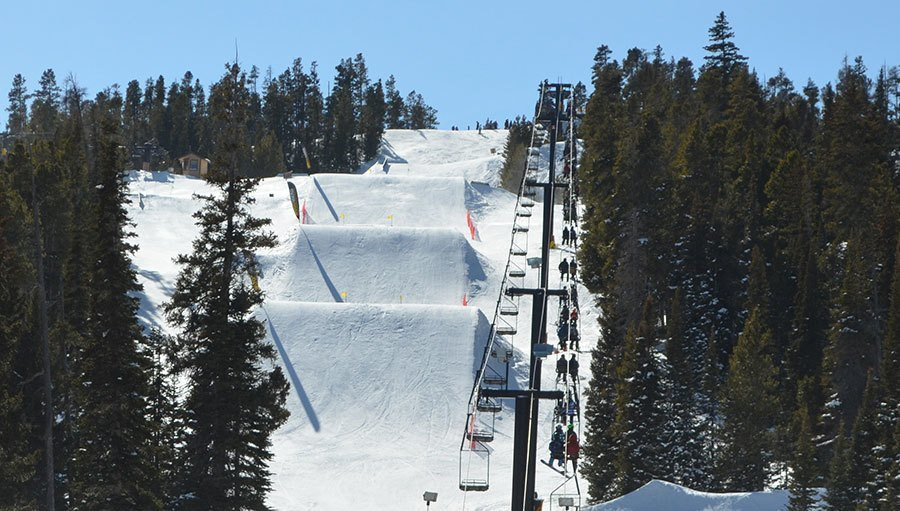 Ski Jumps at Eldora Mountain.