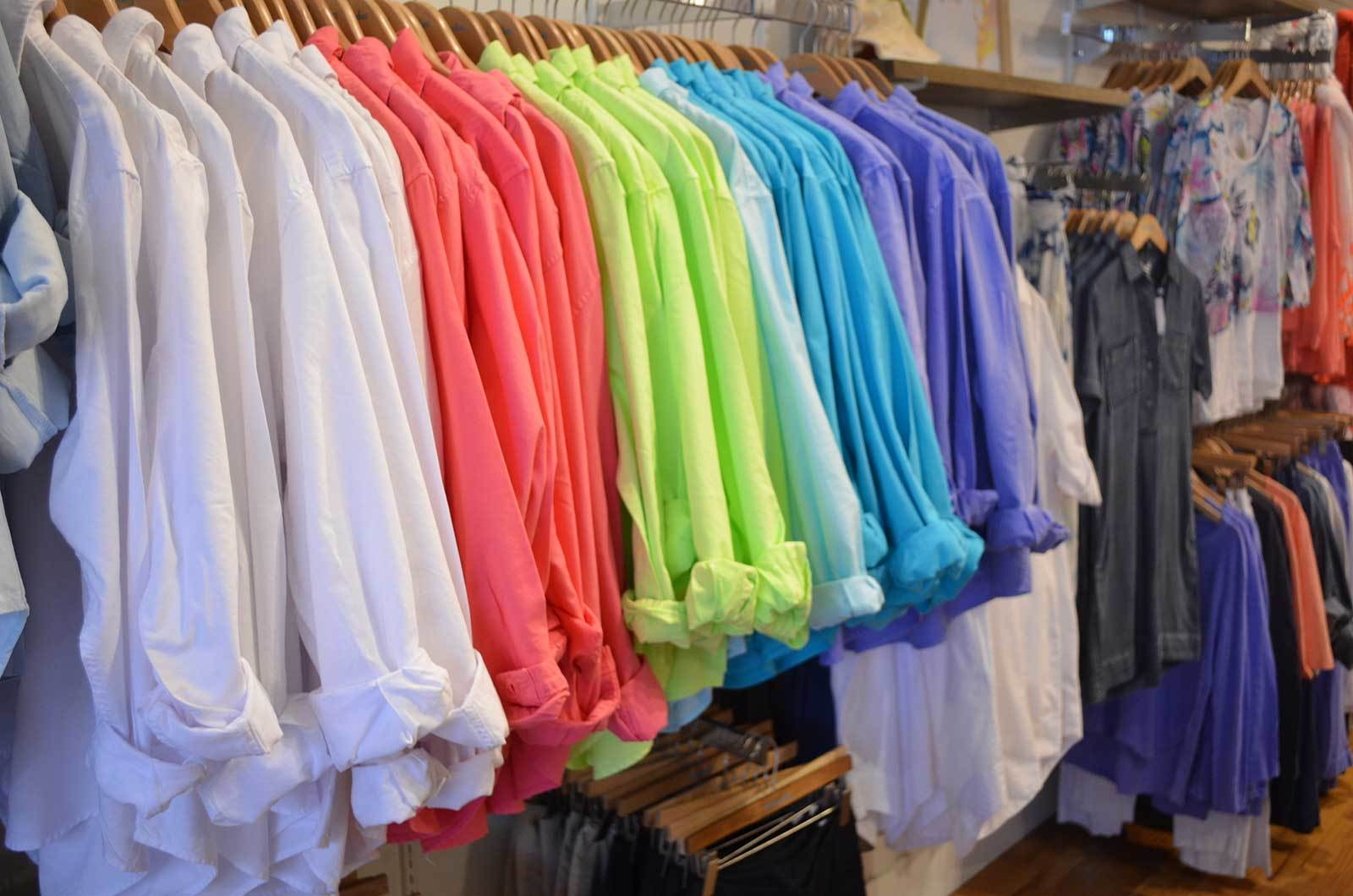 Colorful shirts in Fresh Produce