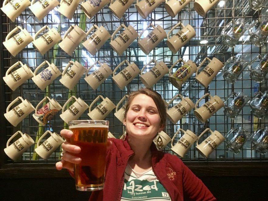 Kara at Boulder Beer.