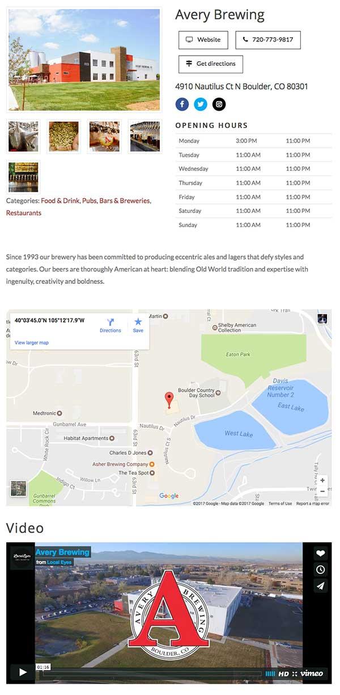 Example Enhanced listing