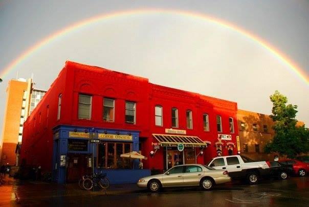 Rainbow over Conor O'Neill's