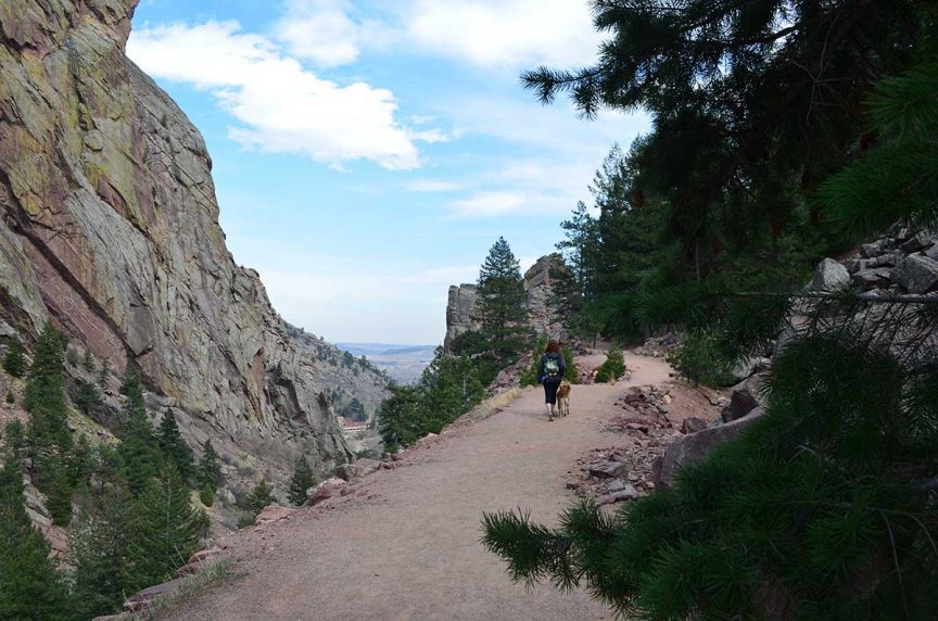 Trail at Eldorado Canyon