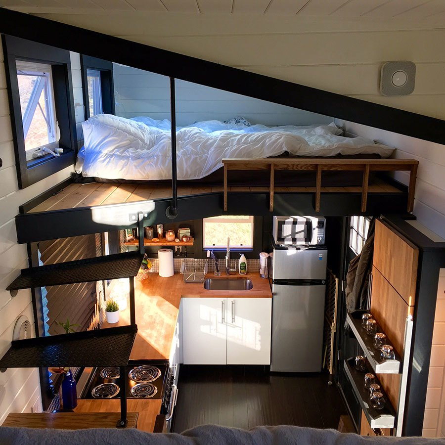 Interior shot of a WeeCasa Tiny House