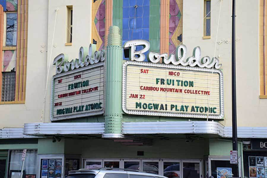 The Boulder Theater's iconic exterior.