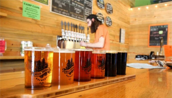 A Flight of Beer at Wildwood Brewing