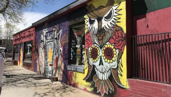 An owl mural in Boulder