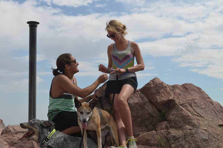 John proposes to Susan at the top of Mount Sanitas