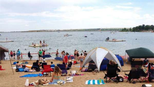 Boulder Reservoir beach