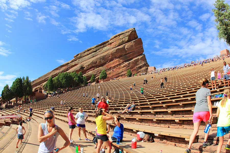 Running at Red Rocks