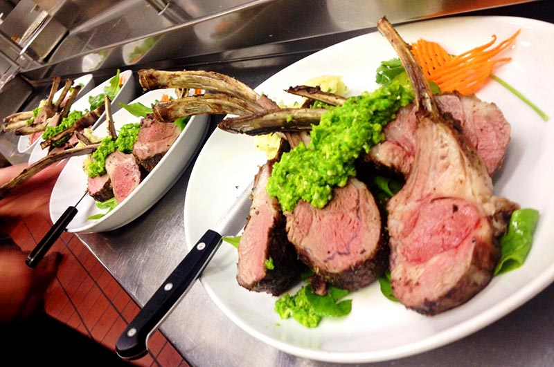 A rack of lamb at Cork.