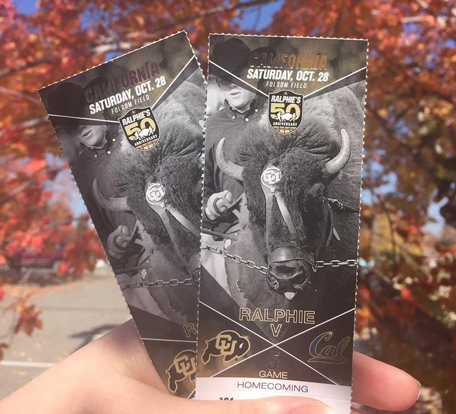 CU homecoming tickets