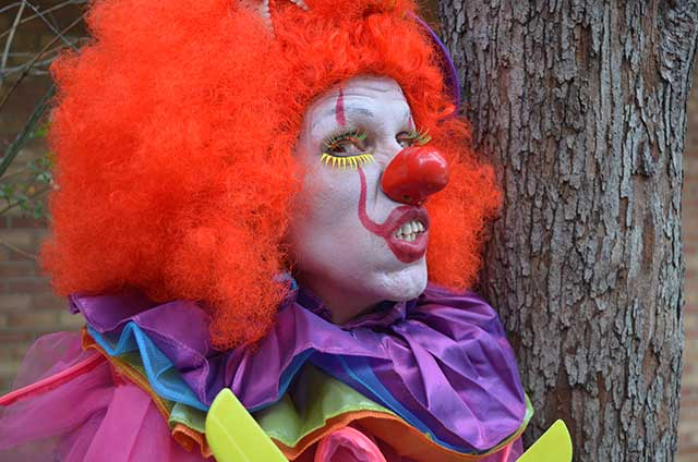 Close up of clown