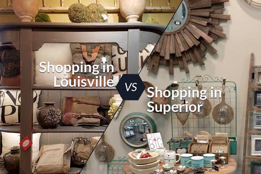 Shopping Lousiville vs Superior