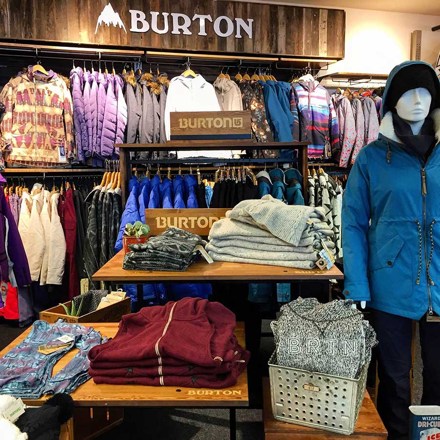 Burton gear at Epic Mountain Gear