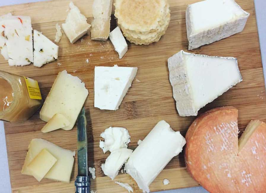 A spread of Haystack Mountain Cheese.
