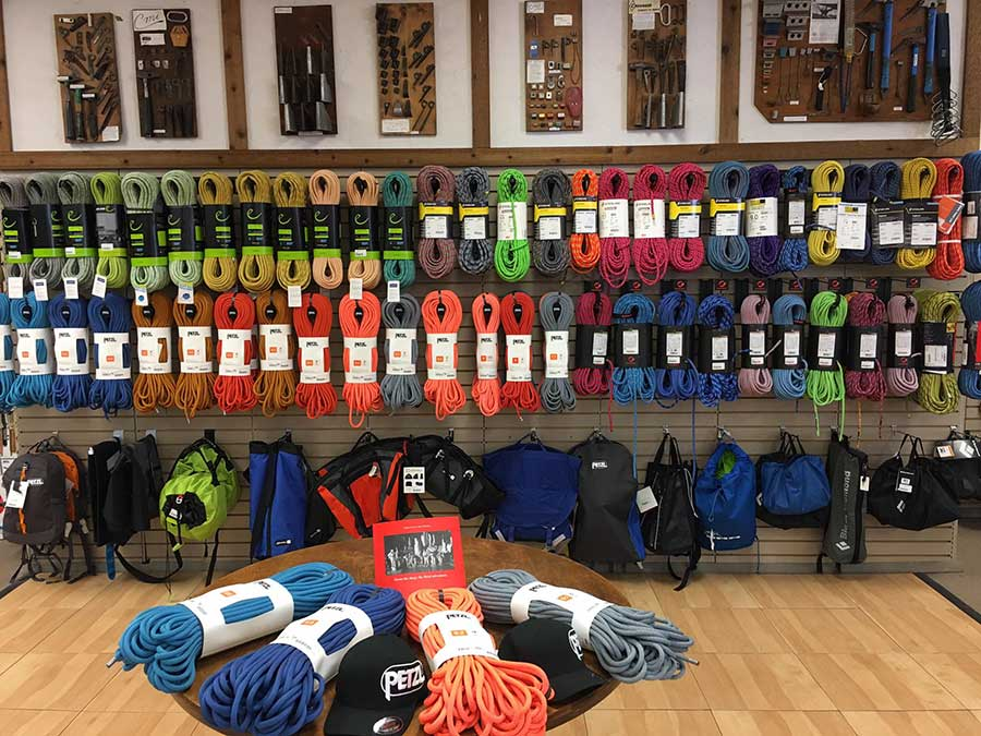 Climbing ropes at Neptune Mountaineering