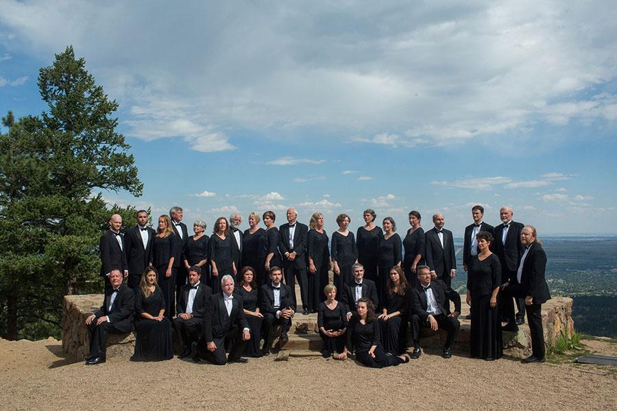 Ars Nova Singers on Flagstaff Mountain