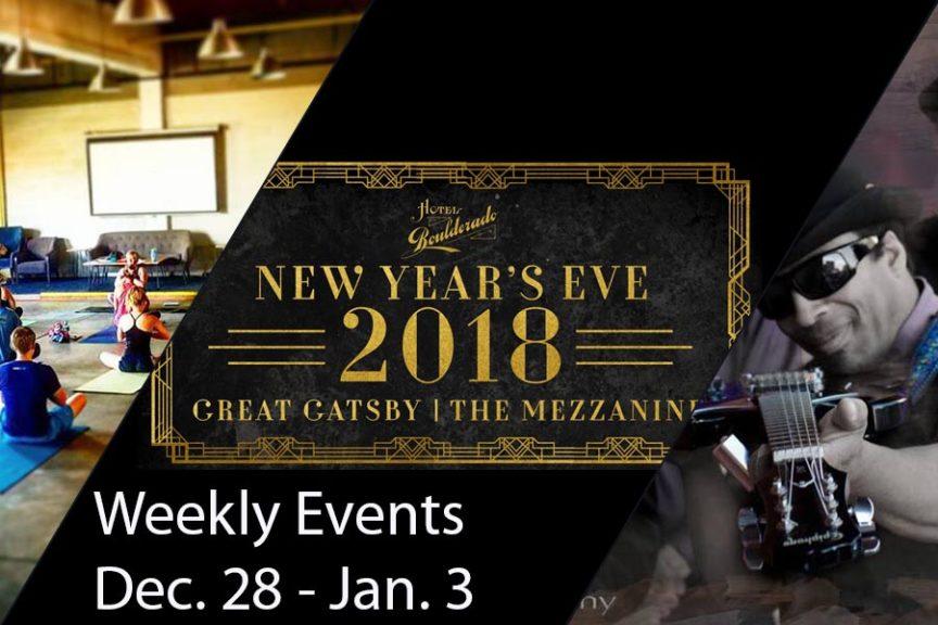 Weekly Events Dec 28-Jan 3