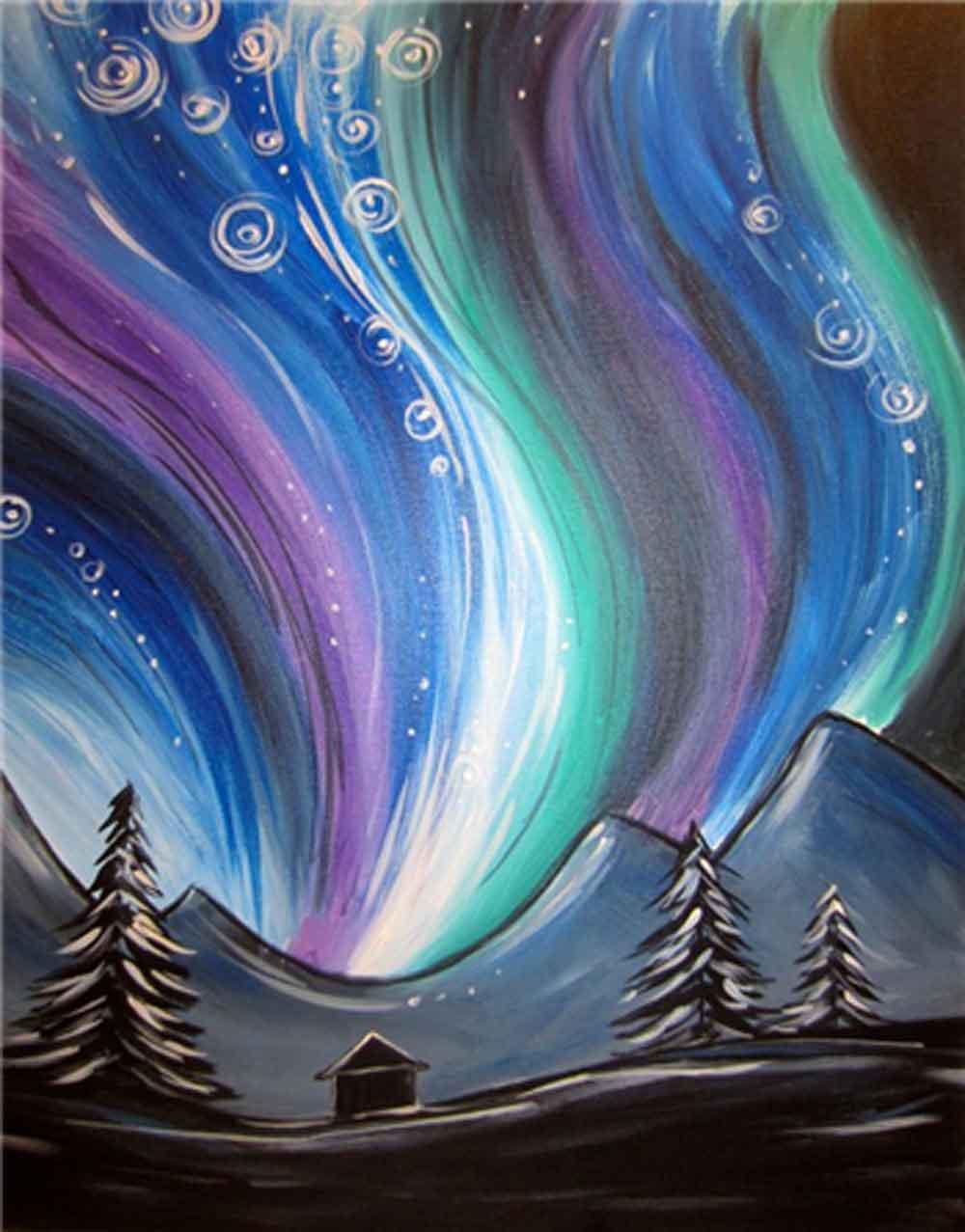 Northern Lights Painting Nice Look