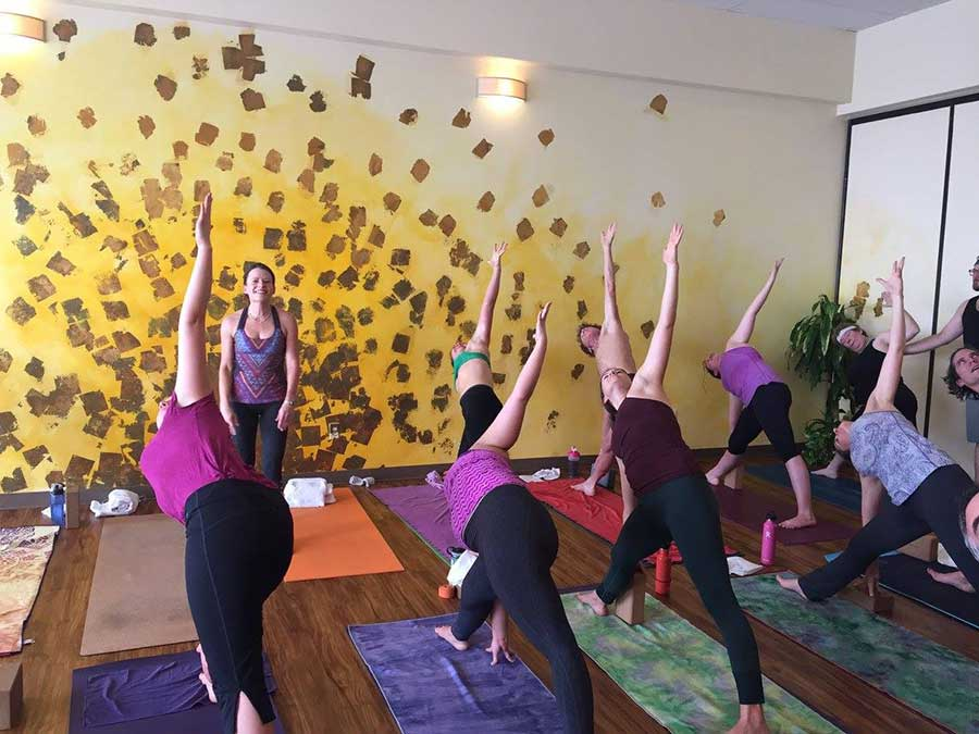 Class at Radiance Power Yoga