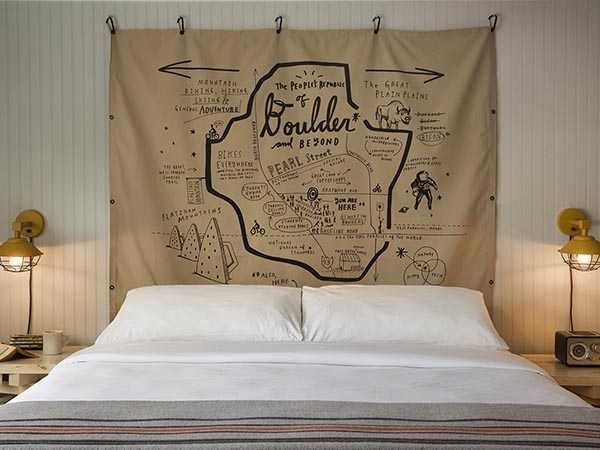 Basecamp Boulder Hotel room.