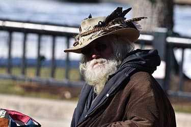 Man on Pearl Street