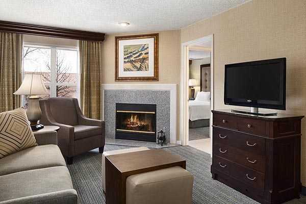 Room at the Homewood Suites Boulder
