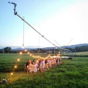 A farm dinner at Toohey and Sons farm.