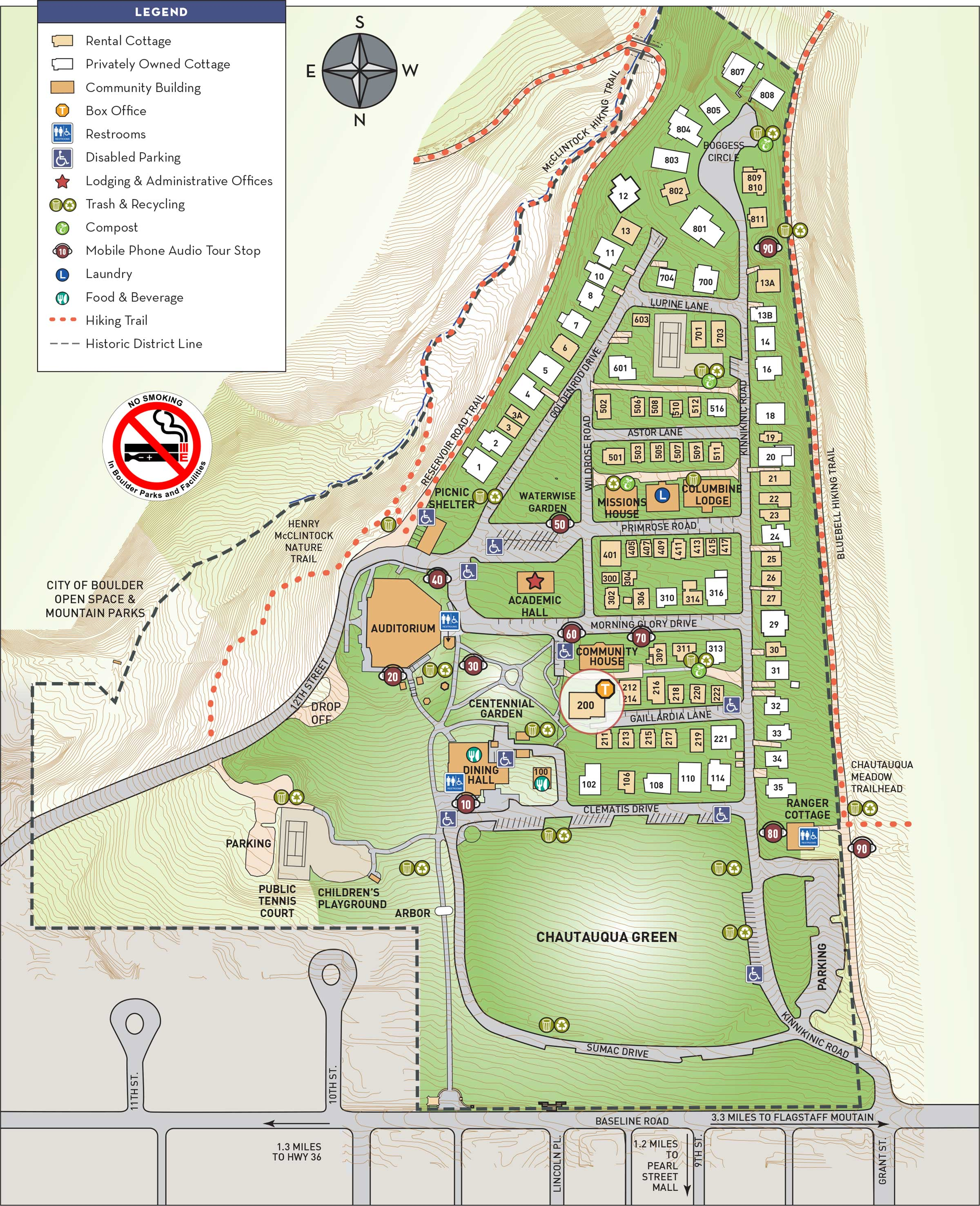Map of Chautauqua Grounds.