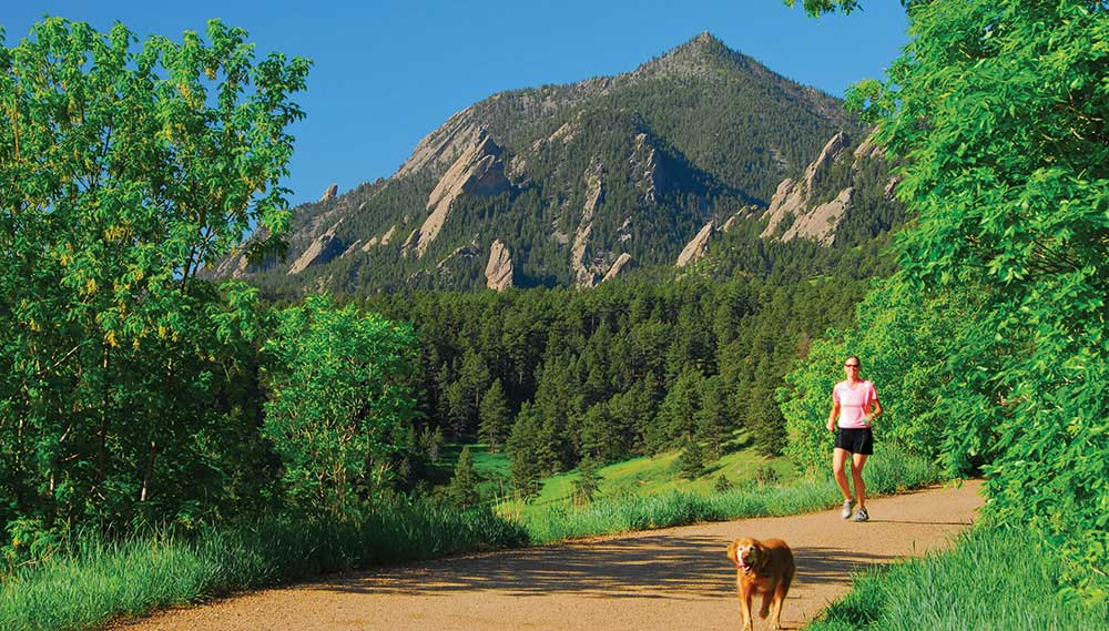 Runner on Bear Peak Trail. Photo by Ann Duncan.