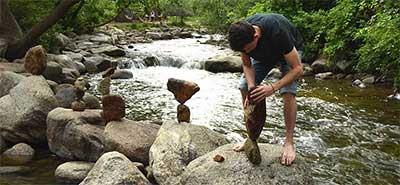 Rock Stacking in Boulder Creek