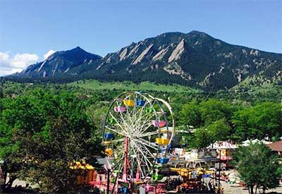 The Boulder Creek Fest from above.