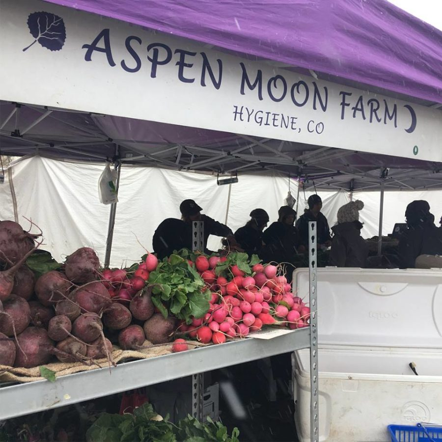 Fresh produce at Aspen Moon's farm stand