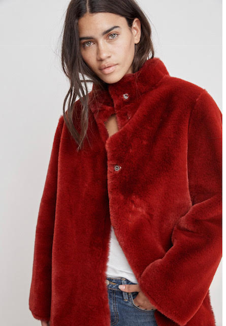 A faux fur jacket for winter