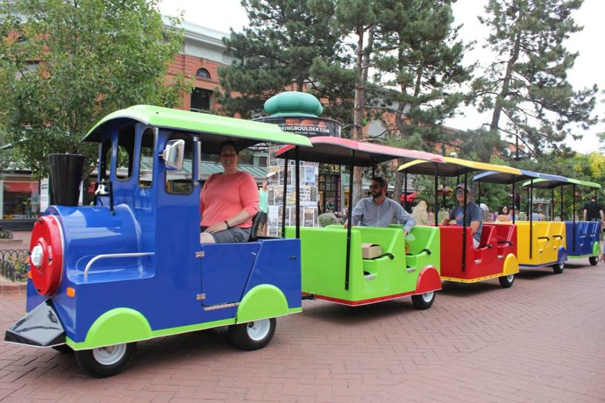 The Snowflake Express kiddie train in Boulder