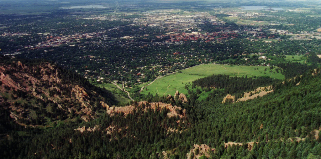 A view of Boulder from the the Gregory Canyon trail. Photo by Flickr user Rob Lee