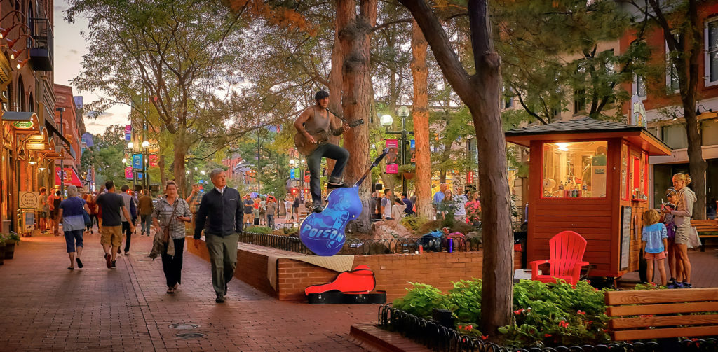 The Pearl Street Mall. Photo by Flickr user Pedro Szekely